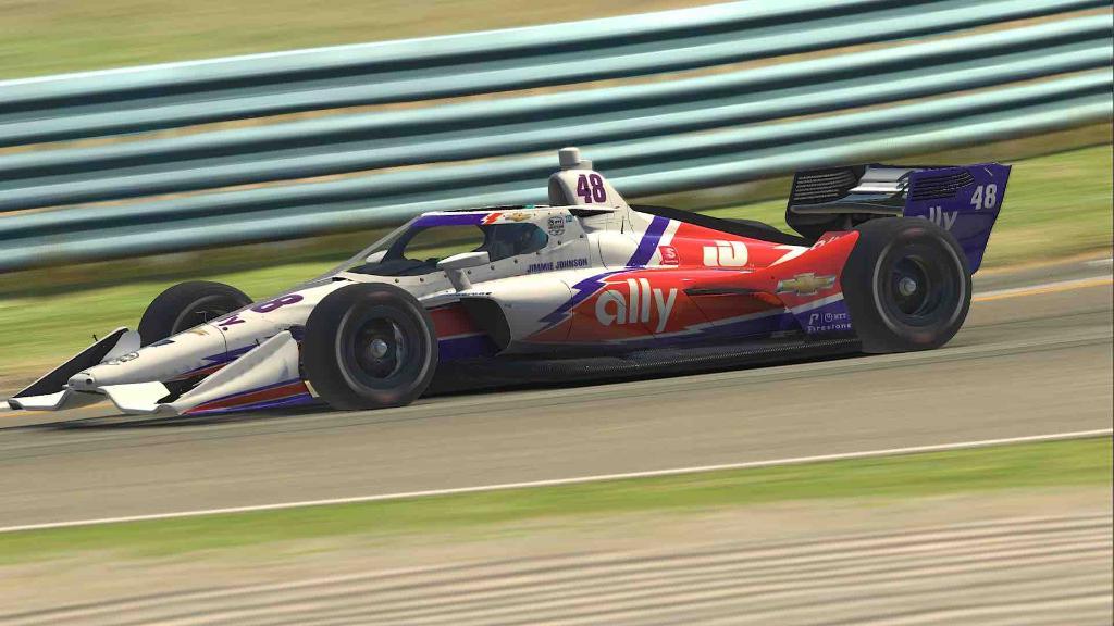 Ilyen lesz Jimmie Johnson virtuális IndyCar-gépe