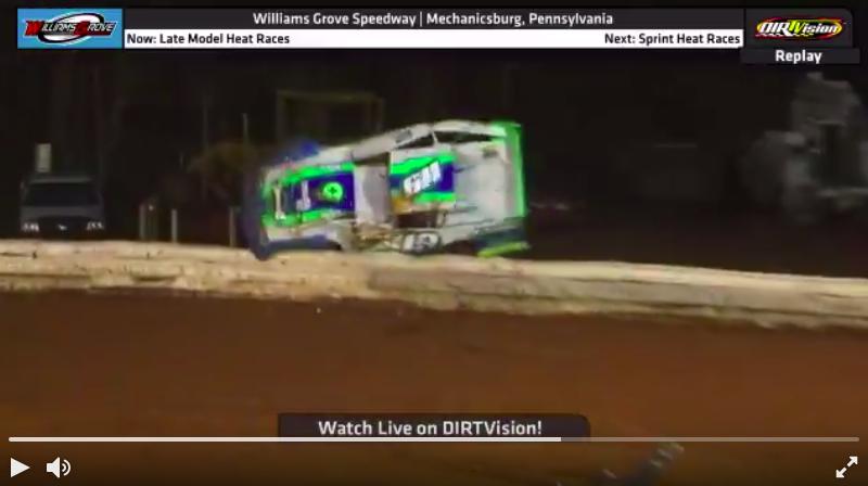 Eddig példátlan balesetben sérült meg súlyosan egy versenyző Williams Grove-on
