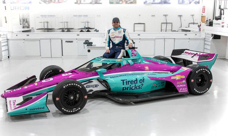 Az IndyCar teljes szezonos, cukorbeteg versenyzője új kampányba kezd