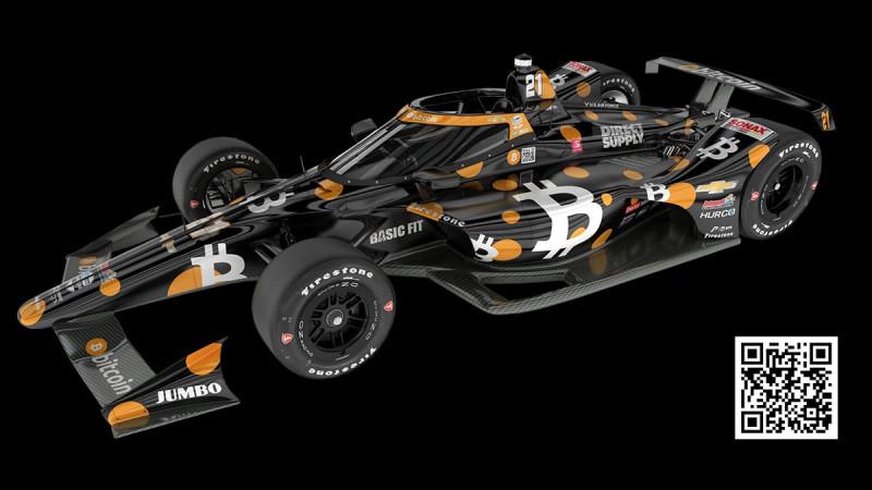 Sporttörténelem az IndyCarban: Bejelentették a legelső Bitcoin-csapatot