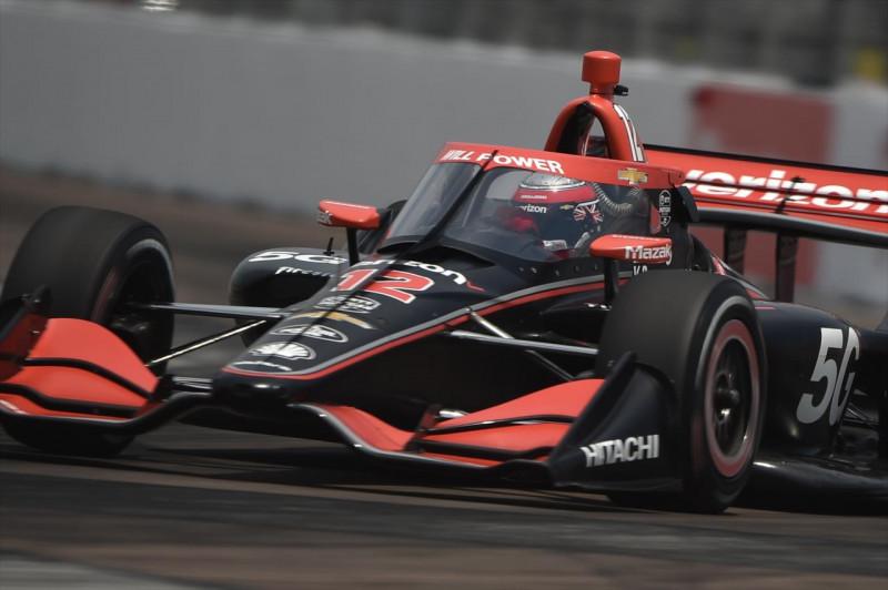 IndyCar: Power az élen, pörögtek-forogtak az autók a detroiti edzésen