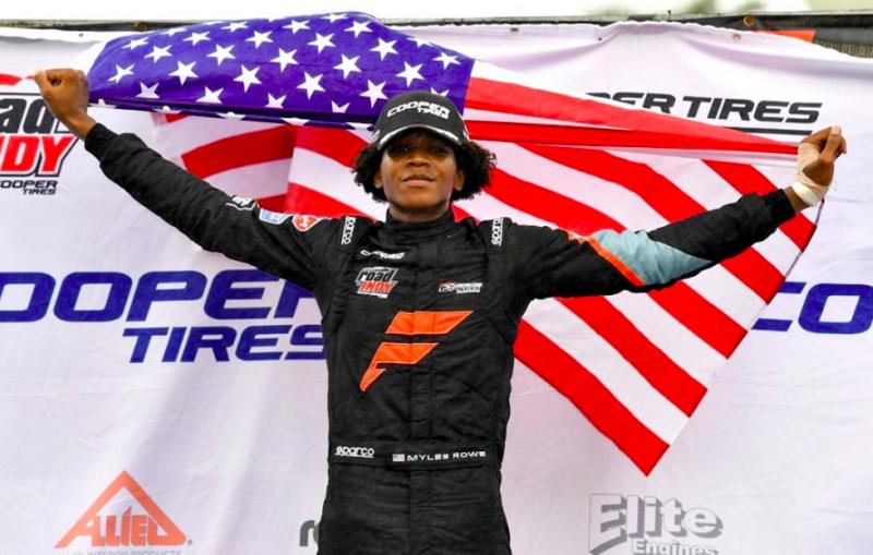 Myles Rowe első afroamerikaiként győzött a USF2000-ben